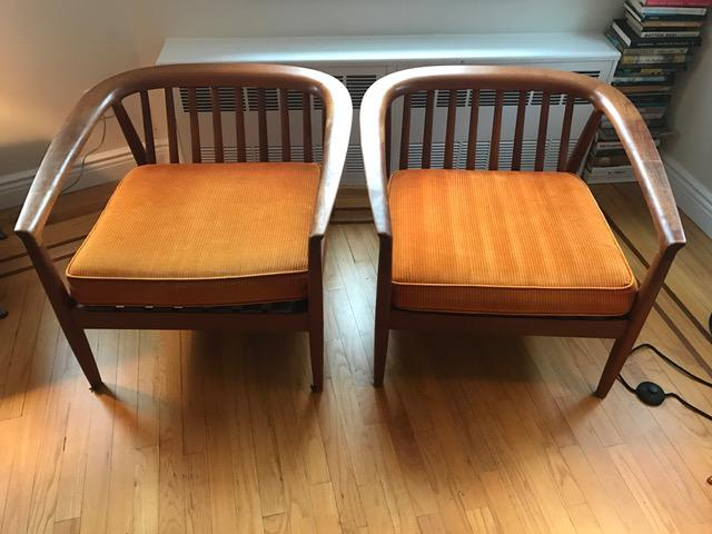 Merveilleux Dux Danish Modern Teak Barrel Back Chairs   A Pair   Image 4 Of 11
