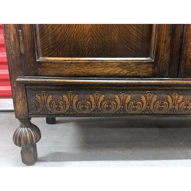 Antique Carved Wood Secretary Desk - Image 6 of 11