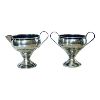 1960s Sterling Cream & Sugar Set - a Pair For Sale