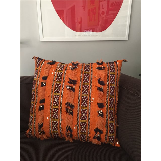 Tangerine Dream Berber Pillow - Image 2 of 5