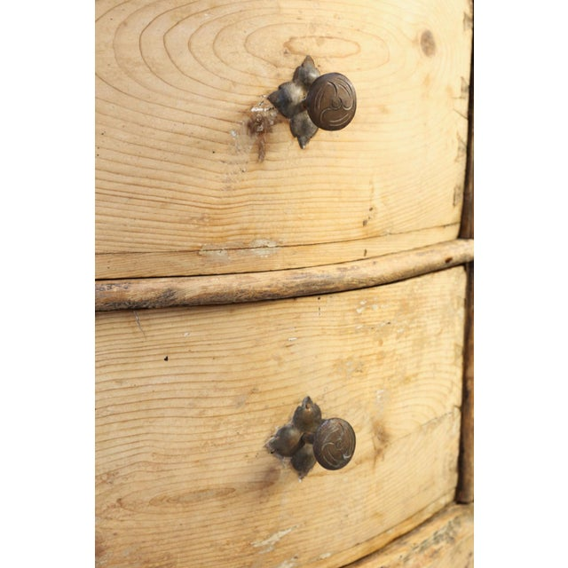 Italian Serpentine-Front Pine Commode For Sale - Image 4 of 13