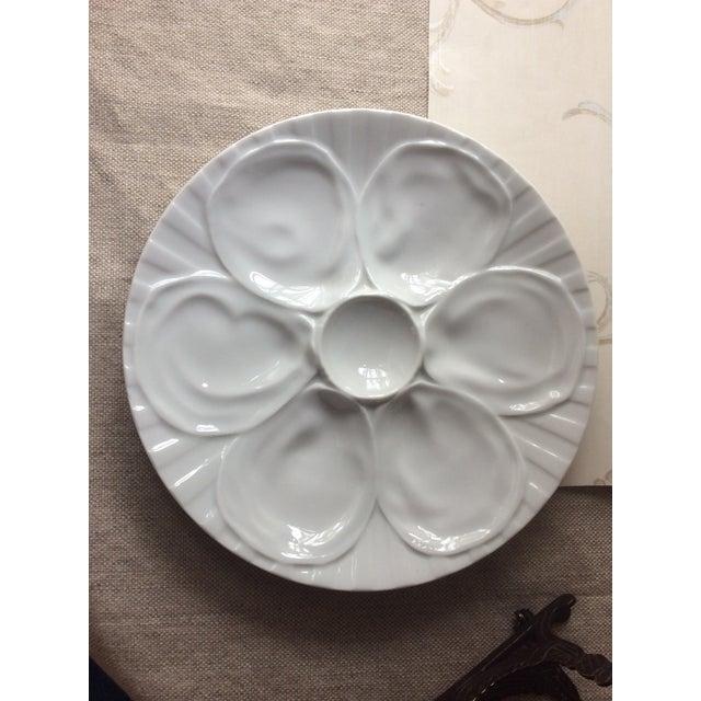 Ceramic Vintage French Porcelain Oyster Plate, 1950s For Sale - Image 7 of 7