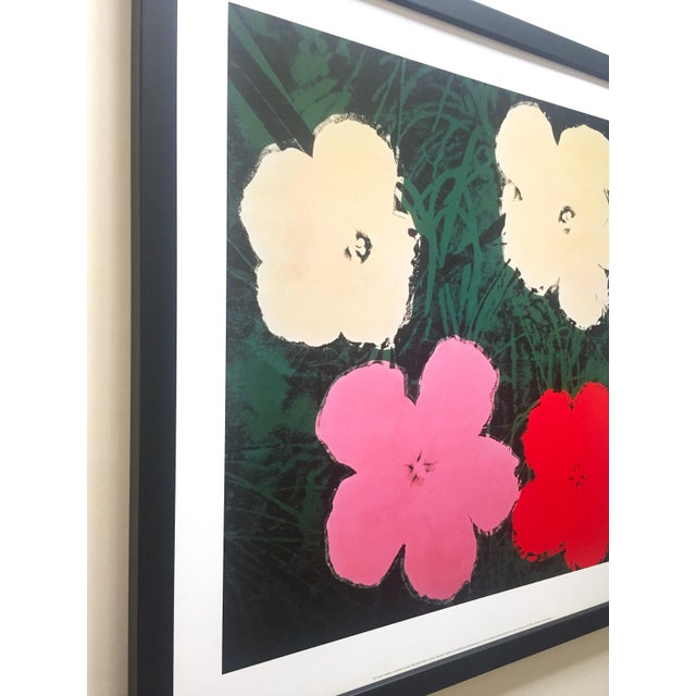 """Wood Andy Warhol Foundation Vintage Lithograph Print Framed Pop Art Poster """" Flowers III """" 1964 For Sale - Image 7 of 13"""