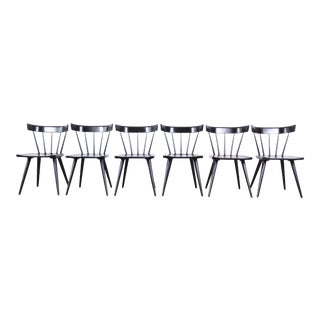 Paul McCobb Ebonized Planner Group Dining Chairs, Set of Six For Sale