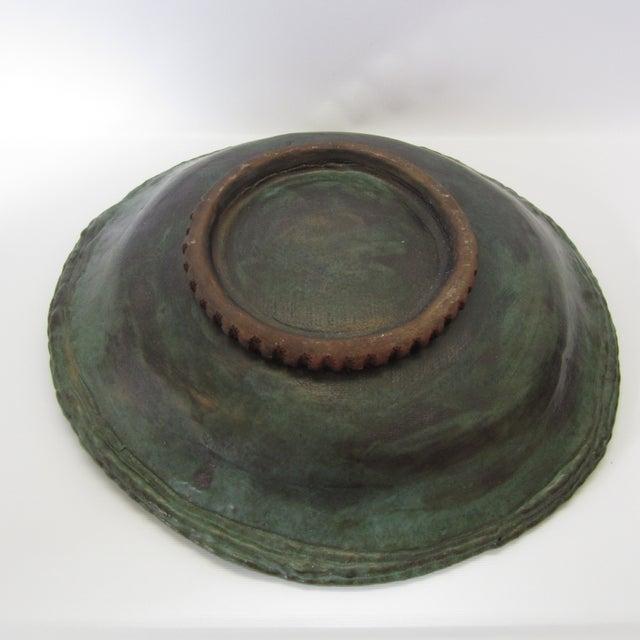 Large Ceramic Green Bowl - Image 9 of 11