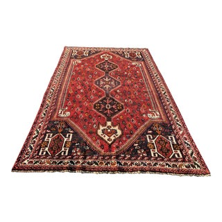 Vintage Persian Shiraz Rug - 5′4″ × 8′10″