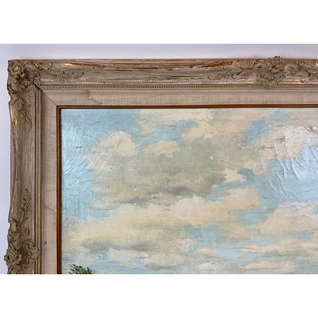 Paint French Seascape Painting by Lois Clark, Framed For Sale - Image 7 of 13