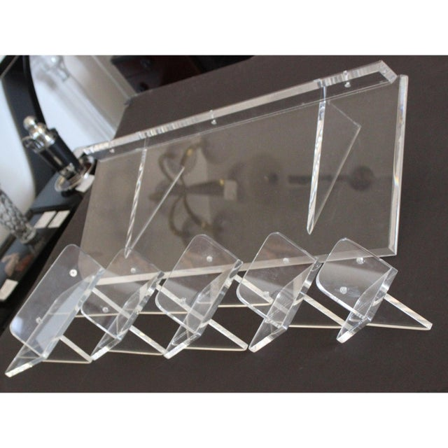Collection of Lucite Wall Brackets - Set of 6 For Sale In West Palm - Image 6 of 12