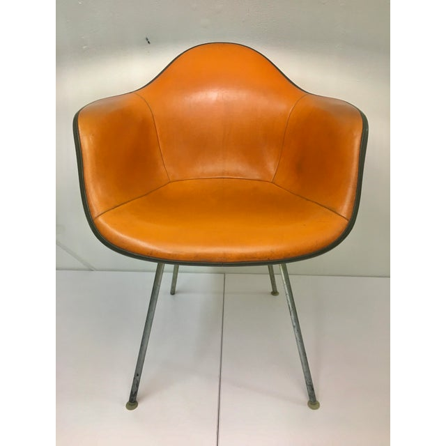 Vintage 'Dax' Armchair in Orange Naugahyde by Charles Eames for Herman Miller For Sale - Image 13 of 13