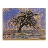 "Image of Piet Mondrian Blue Tree 27.5"" X 39.25"" Poster 1996 Modernism Blue For Sale"