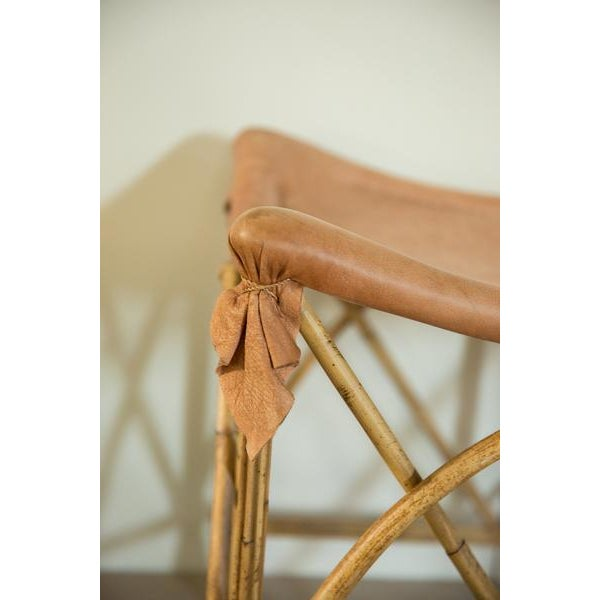 Old New House Vintage Deerskin Foot Stool For Sale - Image 4 of 7