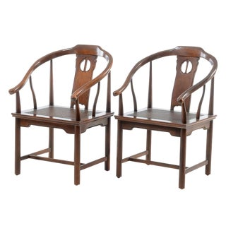 Chinese Style Arm Chairs - a Pair
