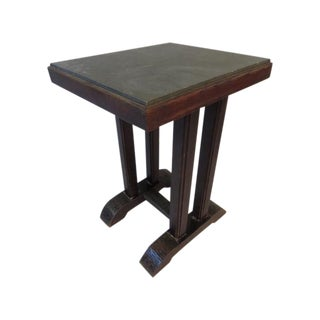 Vintage Marble Top Bistro Table For Sale