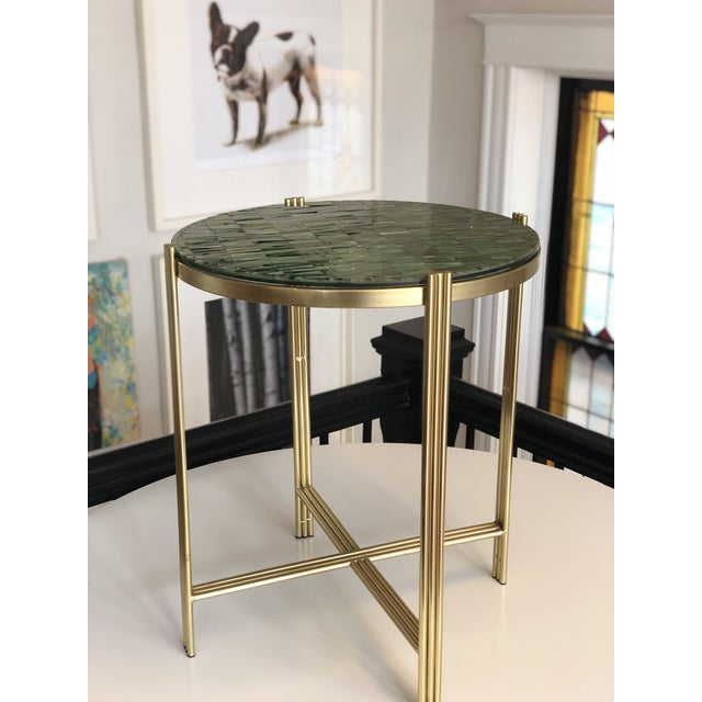 Art Deco Art Deco Mosaic Side Table For Sale - Image 3 of 8