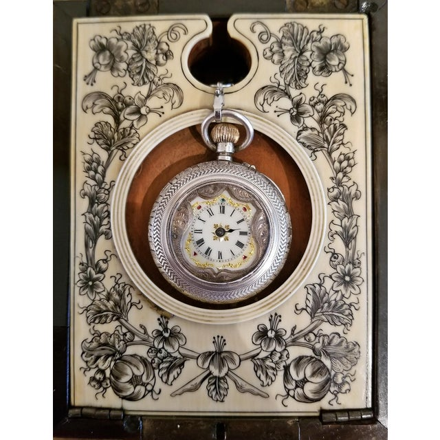 Late 18th Century 18th Century Anglo-Indian Vizigapatam Pocket Watch Display Box For Sale - Image 5 of 13