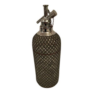 Sparklets Siphon Glass Syphon Seltzer Metal Mesh Bottle