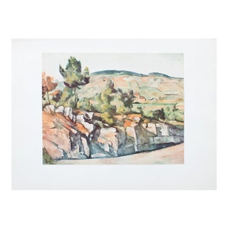 "1950s Cezanne, ""Mountains in Provence"" First Edition Lithograph For Sale"