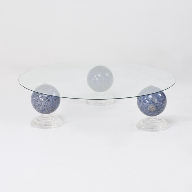 "Lapis Lazuli ""Tri-Orbic"" Coffee Table, C. 1983 - Image 3 of 9"
