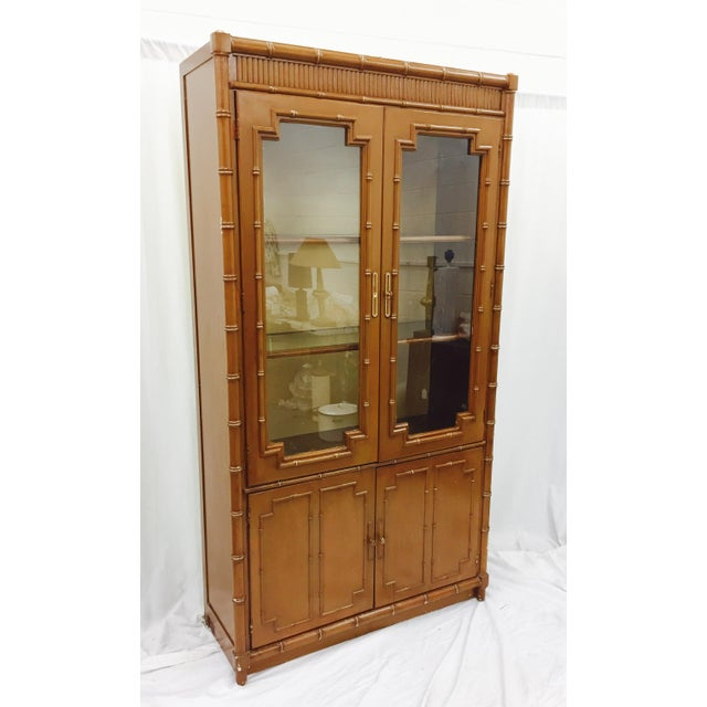 Vintage Chippendale Style China Cabinet - Image 3 of 10