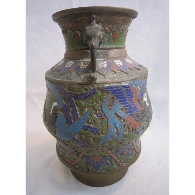Chinese Champleve Dragon Vase For Sale - Image 5 of 5
