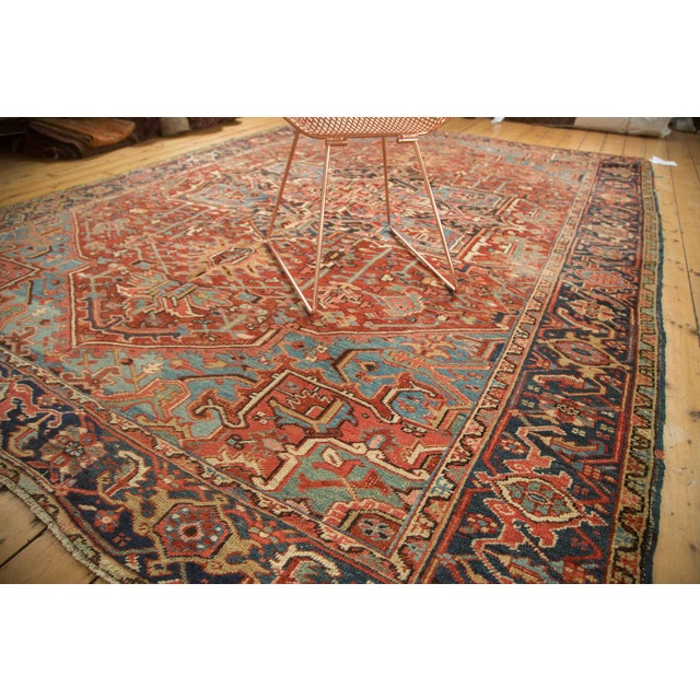 "Antique Heriz Carpet - 8'5"" X 11'3"" - Image 6 of 7"