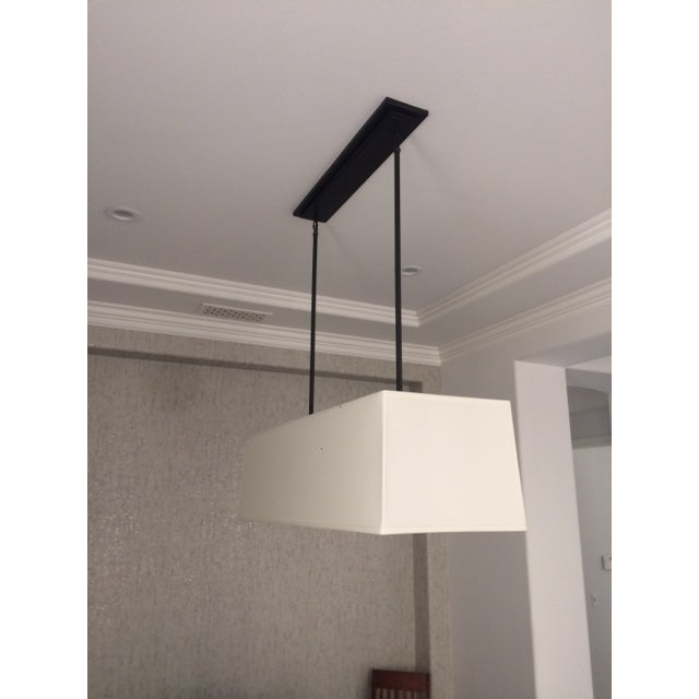 Restoration Hardware Restoration Hardware Rectangular Shade Chandelier For Sale - Image 4 of 11