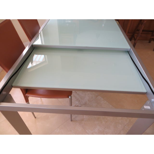 Calligaris Extendable Tempered Glass Dining Set - Image 5 of 11