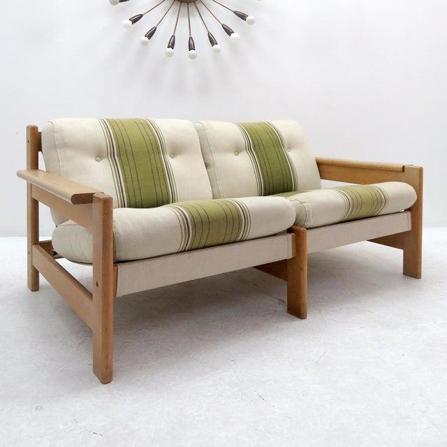 Danish Modern 1970's Vintage Bernt Petersen Loveseat Sofa For Sale - Image 3 of 12