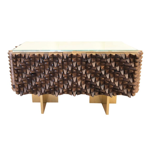 Gold Organic Modern Wood Credenza by Interno 43 for Gaspare Asaro For Sale - Image 8 of 8