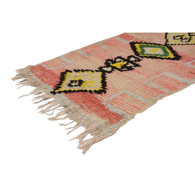 Causal and calm or subtle Bohemian, this vintage Berber Moroccan runner features a beautiful sun-faded composition. A...