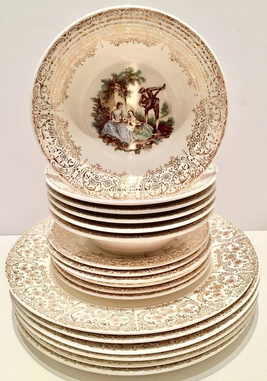 1940\u0027s 22-Karat Gold American Limoges Dinnerware - Set of 13 - Image 2 of  sc 1 st  Chairish & 1940\u0027s 22-Karat Gold American Limoges Dinnerware - Set of 13 | Chairish
