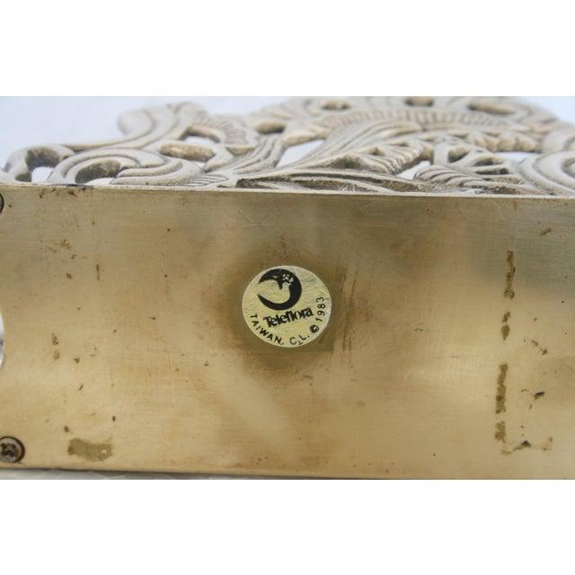 Gold Vintage Brass Teleflora Letter / Napkin Holder For Sale - Image 8 of 9
