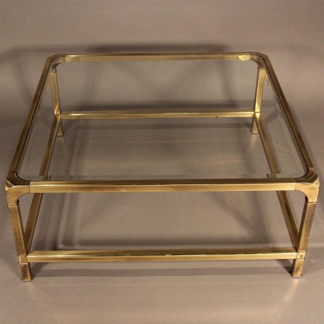 Mastercraft Brass and Glass Coffee Table - Image 7 of 10