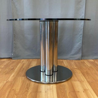 Marco Zanuso for Zanotta 2532 Marcuso Steel and Glass Dining Table, 1970 Preview