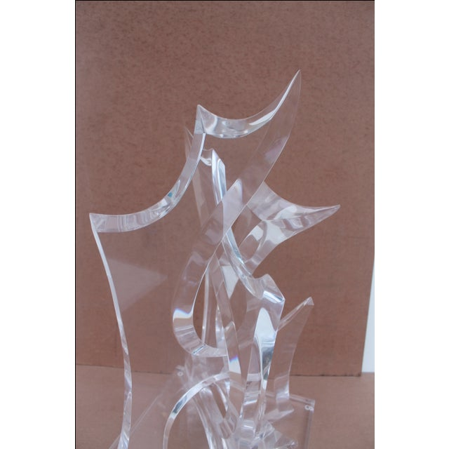Abstract Lucite Sculpture by Van Tial - Image 7 of 11