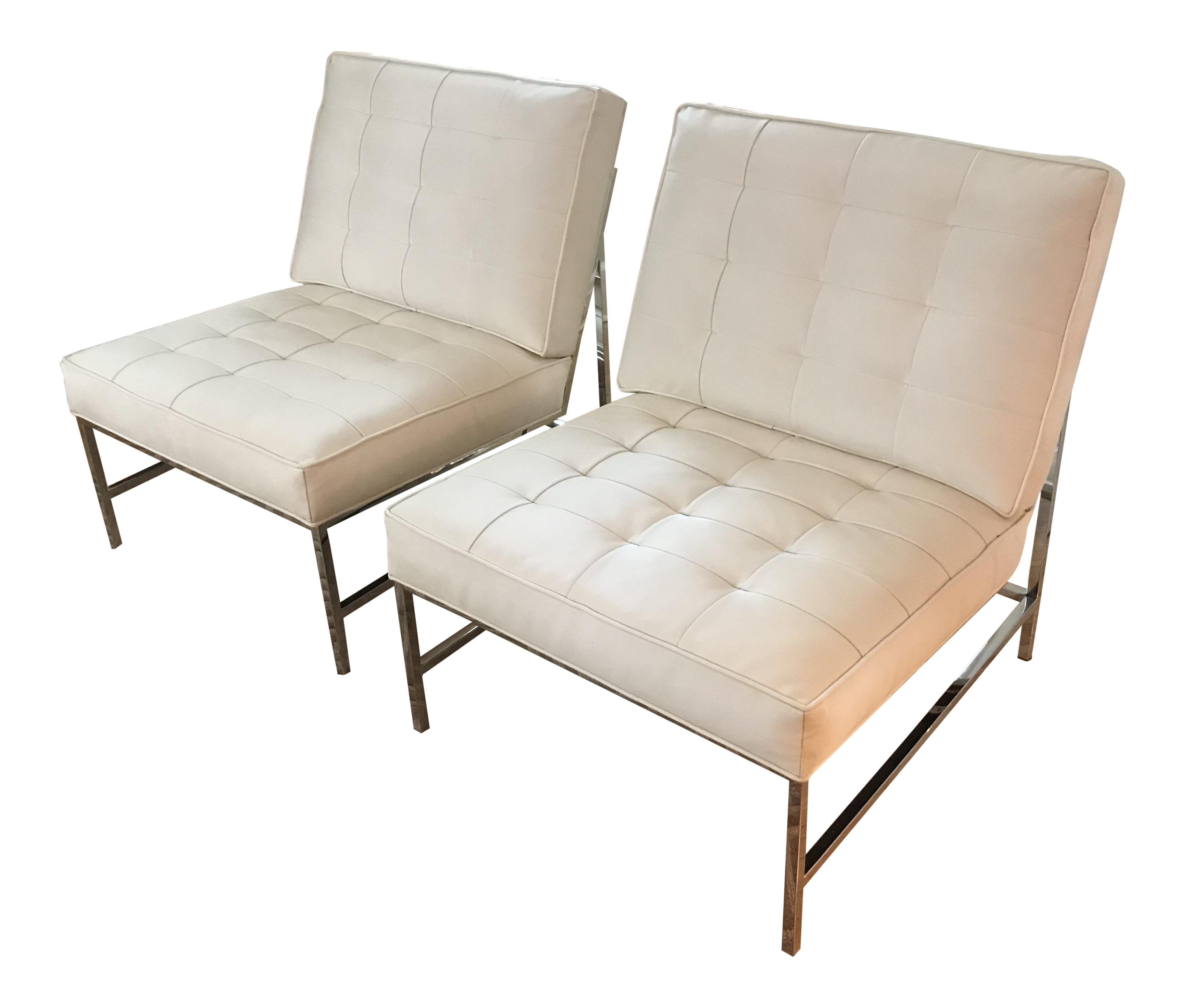 Attractive Mitchell Gold Major Leather Chairs   A Pair