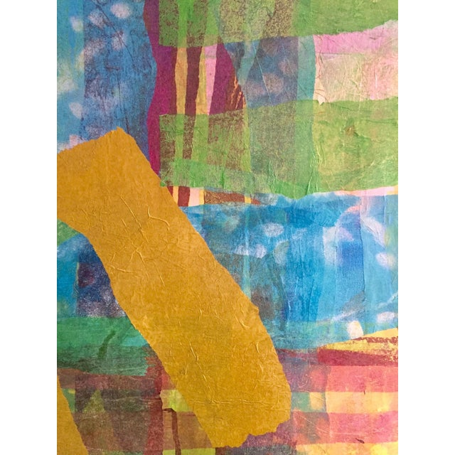 American School 20th C. Mixed Media Collage on Canvas - Image 2 of 5