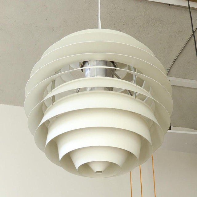1960s Poul Henningsen Ph Louvre Pendant Light For Sale - Image 10 of 11