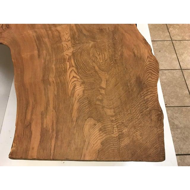 Large Organic Teak Live Edge Coffee Table - Image 4 of 6