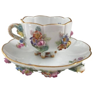 19th Century Meissen Cup and Saucer