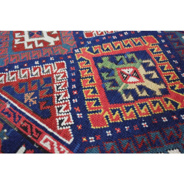 Traditional Late 19th Century Antique Hand-Knotted Talish Kazak Rug - 3′4″ × 8′4″ For Sale - Image 3 of 12