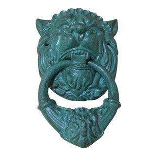 Vintage Cast Iron Lionhead Doorknocker