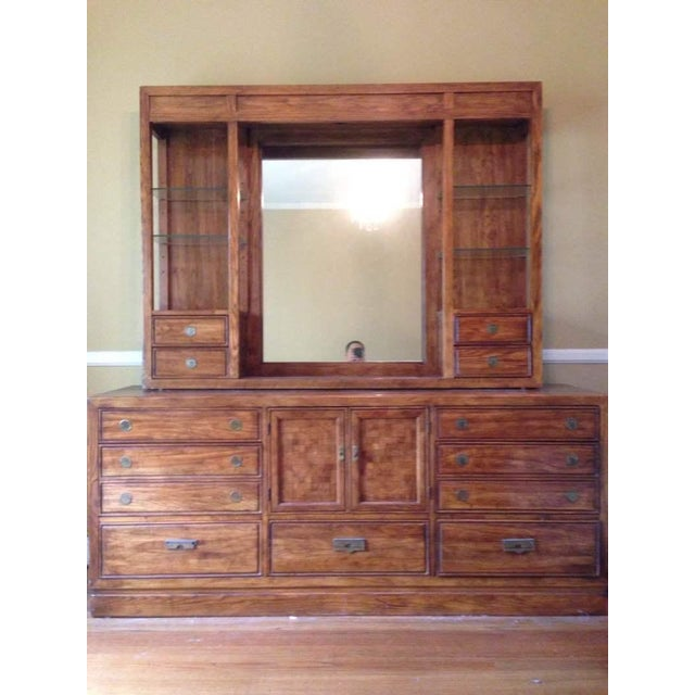 Thomasville Carved Maple Hutch - Image 2 of 7