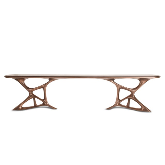 "Custom Anika Console Table. the dimensions of this console table is 110""L x 15""D x 23.5""H. We are able to customize the..."