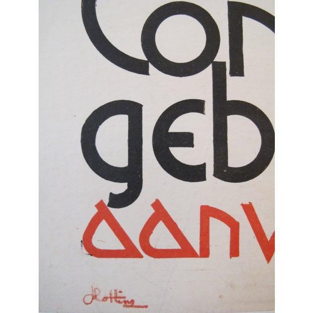 1938 Dutch Olympiad Celebration Poster - Image 3 of 3