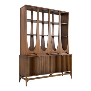 Broyhill Brasilia Mid Century Room Divider Wall Unit Shelving For Sale