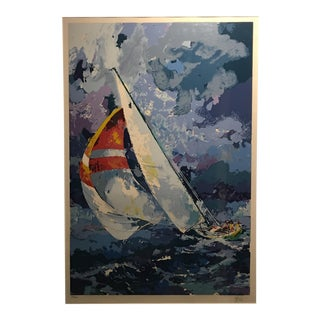 """Wayland Moore Signed & Numbered Serigraph """"Sailboat 3"""" 72/300 For Sale"""