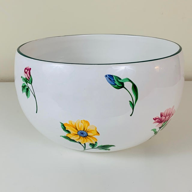 Tiffany & Co Large Sintra Floral Porcelain Bowl. Made in Portugal. Marked Tiffany & Co on the underside, as shown....