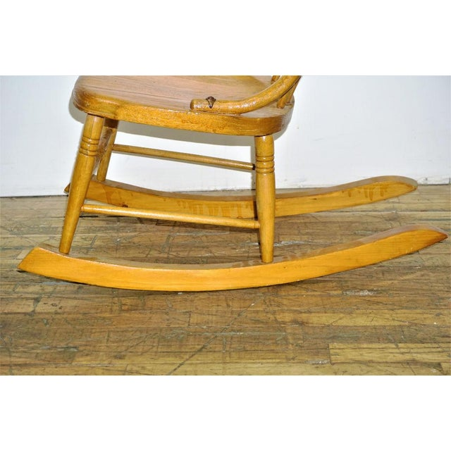 Vintage Wood Rocking Chair - Image 6 of 8
