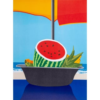 """Ana Mercedes Hoyos, """"Porcelana Del Carbe"""", Watermelon the the Beach, Lithograph For Sale"""